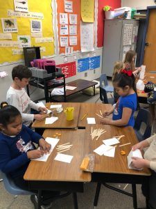 First Grade STEM Building Houses